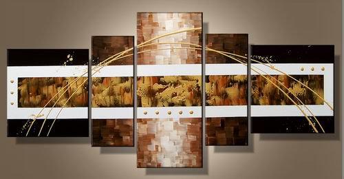 Yellowstone -Abstract-handmade painting-set of 5pcs