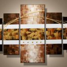 Yellowstone -Abstract-handmade painting-set of 5pcs