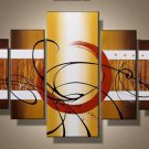 Wave -Abstract-handmade painting-set of 5pcs