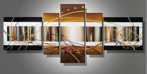 September -Abstract-handmade oil painting-set of 5pcs