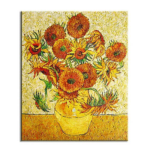 Sunflowers-Oil on canvas paintings-Vincent Van Gogh-reproduction