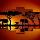 Safari -Landscape , Botanical , Animal-handmade oil painting-set of 5pcs