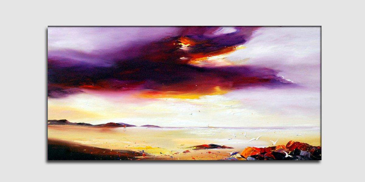 Clearer Sky Ahead-landscape-textured oil painting-handmade