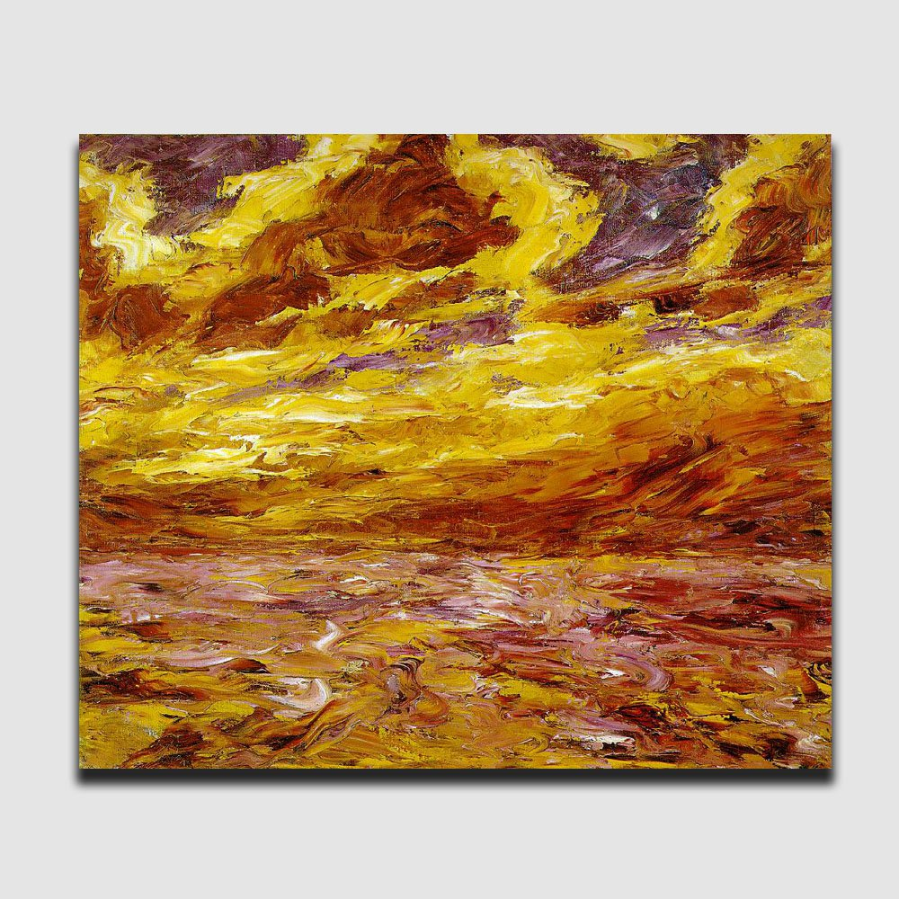 Autumn Sea-landscape abstract-handmade oil painting on canvas-reproduction-Emil Nolde