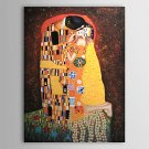 The Kiss-oil on canvas paintings-Gustav Klimt-reproduction