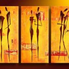 Africa Love -People-handmade oil painting-set of 3pcs