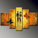 Romance -People , Animal-handmade oil painting-set of 5pcs