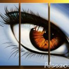 Blue Eye-People-oil on canvas paintings-Group paintings-over size-set of 3pcs