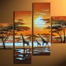 Sunset-Landscape, Animal, Botanical-oil on canvas paintings-Group paintings-over size-set of 4pcs