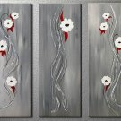 Flowers Elegant white flowers -Botanical-handmade painting-set of 3pcs