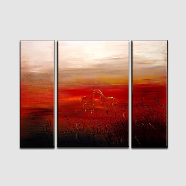 Horses-animal landscape oil painting handmade