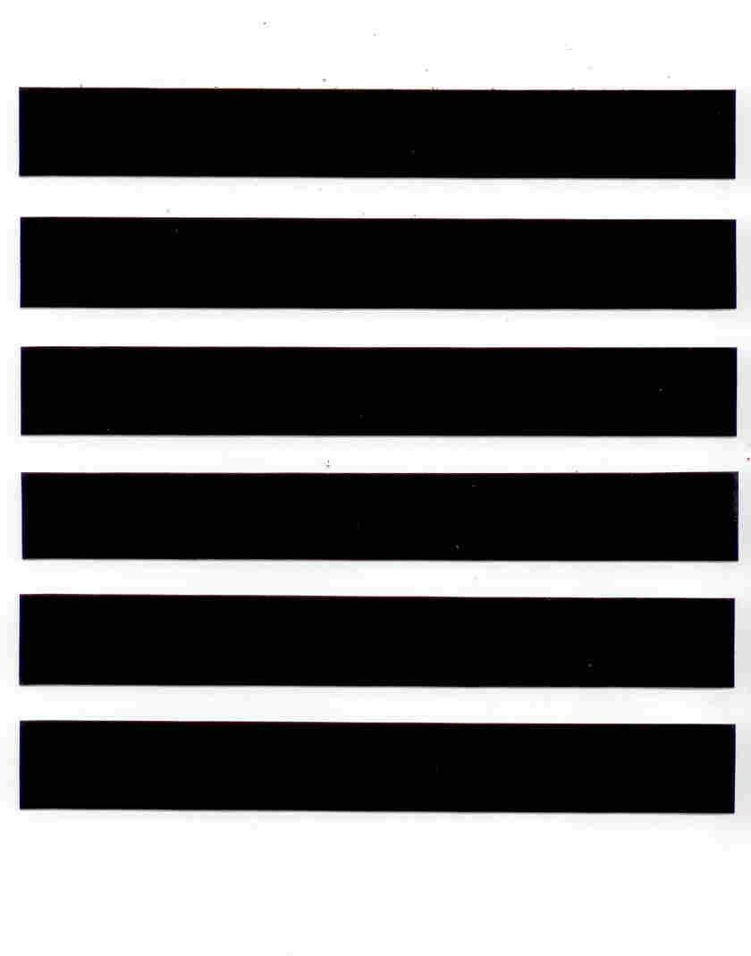 Reflective Black 3M Scotchlite Tape 6 Strips ~ Bicycle Helmet Motorcycle Arrows