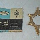 Escutcheon Mid Century STARBURST 50s Vintage  Star New old Stock in Box Brass