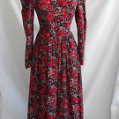 Vintage Laura Ashley Maxi Dress Prarie Deadstock Corduroy Print 4
