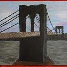 Brooklyn Bridge Modern Folk Art Painting South Sea Seaport D Worsky NYC New York
