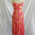 Diane von Furstenberg DVF Dress 6 Gown Dress Maxi Nos Deadstock Empire Metallic