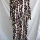 Countess Mara Vintage 60s Robe Hostess Gown Maxi Dress Deadstock Paisley Print