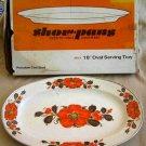 "Modernist Mid Century New in Box Vintage 60s Show Pan Server Serving Platter 18"""
