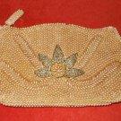 Vintage Beaded Bag Japanese Clutch Allover Pearls Canadian Oak Leaf Deadstock