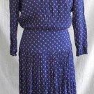 Dropped Waist Jazz Flapper Maxi Dress Vintage 70s NOS Depeche Mode Navy Blue