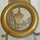 Antique Vintage Miniature  Watch Painting Bern Switzerland Zytglogge Clock Tower