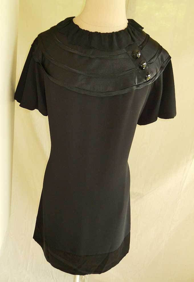 NEW with Tag ABS Collection Puff Sleeve LBD Little Black Dress 10