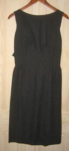 New with Tags Backless Deadstock Sexy 60s Cut Out Cocktail Sheath Dress Bow LBD