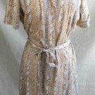 Bombshell  Sexy Vintage 60s NOS Belted Gored Shirt Dress M Adorable Sash Belt
