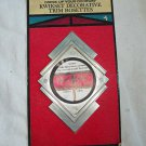 Mid Century Vintage Door Knob Escutcheon Back Plate Trim Rosette New old Stock