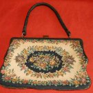 TOTE Tapestry  Vintage 50s Deadstock Floral Structured Top Handle Large Hand Bag