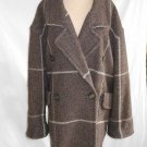 Vintage 70s Oversize Coat Jacket Mondi Slouchy Soft Tweed Belted Back Wool 36