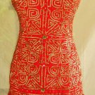 Nos Fernando Garcia Embroidered Boho Slip Silk Corset Mini Dress Flounced Indie