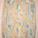 SHIRT BLOUSE Vintage 70s NOS Trails End Floral Long Collar PASTEL Mixed Print