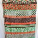 Sleeping Bag Vintage 50s Modernist Mid Century Mixed Floral Orange Green Camping
