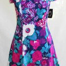 Corset Dress Deadstock with Tag Off The Shoulder Vintage 70s Flared Skirt Floral