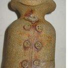 Vintage Modernist Folk Art Sunshine Pottery 70s Grotesque Face Southern