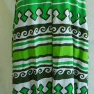 Hawaiian Print Swing Gown Pop Art Maxi Dress MOD Vintage 60s NOS Caftan Malia