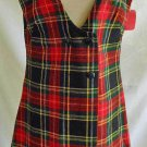 GRUNGE Dress Mini NEW WITH TAG Vintage 60s Plaid Jumper H.I.S. Her Naughty Girl
