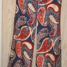Oversize Vest Vintage NOS 70s Maxi Hippie Flag Paisley Sleeveless Coat Dress