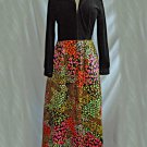 Evelyn Pearson Dress Vintage 60s Gown Lounging Quilted Skirt Velvet Bodice 10