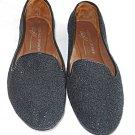 Donald J Pliner Flats Black Caviar DENDA Mocs 5.5M Shoes Stitched Leather Sole
