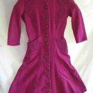 Antique Vintage 1930s Trapunto Coat Dress Connie Carter Art Deco Fit and Flare