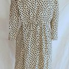 Pauline Trigere Dress NOS Vintage Pleats Tabard Tumbling Squares Print Couture 8