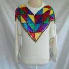 New old Stock with Tags Vintage de Rotchild Sweater Sequin Op Art Silk Angora S