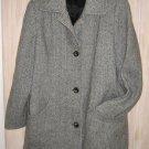 NOS Car Coat Herman Kay Wool Tweed Retro Vintage 60s Swing Cozy Jacket Long 10