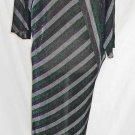 Sheer Dress Clovis Ruffin Vintage 70s Nos Sexy Stripe Metallic Maxi Dress Dolman