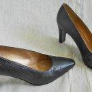 Stuart Weitzman Shoes Black Snakeskin Lizard Pump Sexy High Heel Bootie  10B