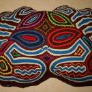Mola Vintage Kuna Crab Small Pillow Cut Out  3D Animal Handmade Folk Art