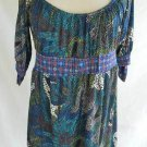 Dress Hale Bob Empire DOT Tunic Blouse NOS Deadstock Bow Swing Baby Doll Mini S