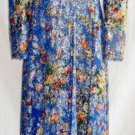 CAROLINE CHARLES Psychedelic Dress Gown Vintage 60s NOS  Dress Metallic Couture
